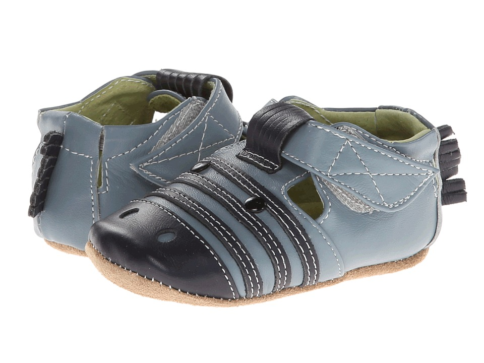 Livie & Luca - Zebra (Infant) (Blue) Kids Shoes