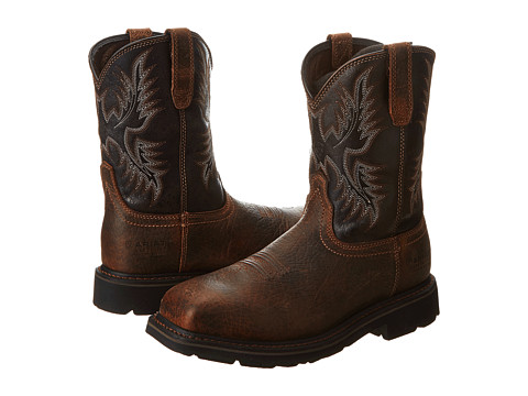 Ariat Sierra Wide Square Toe Puncture Resistant Steel Toe - 6pm.com
