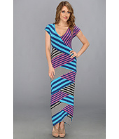Nicole Miller - Multi Striped Jersey Long Dress