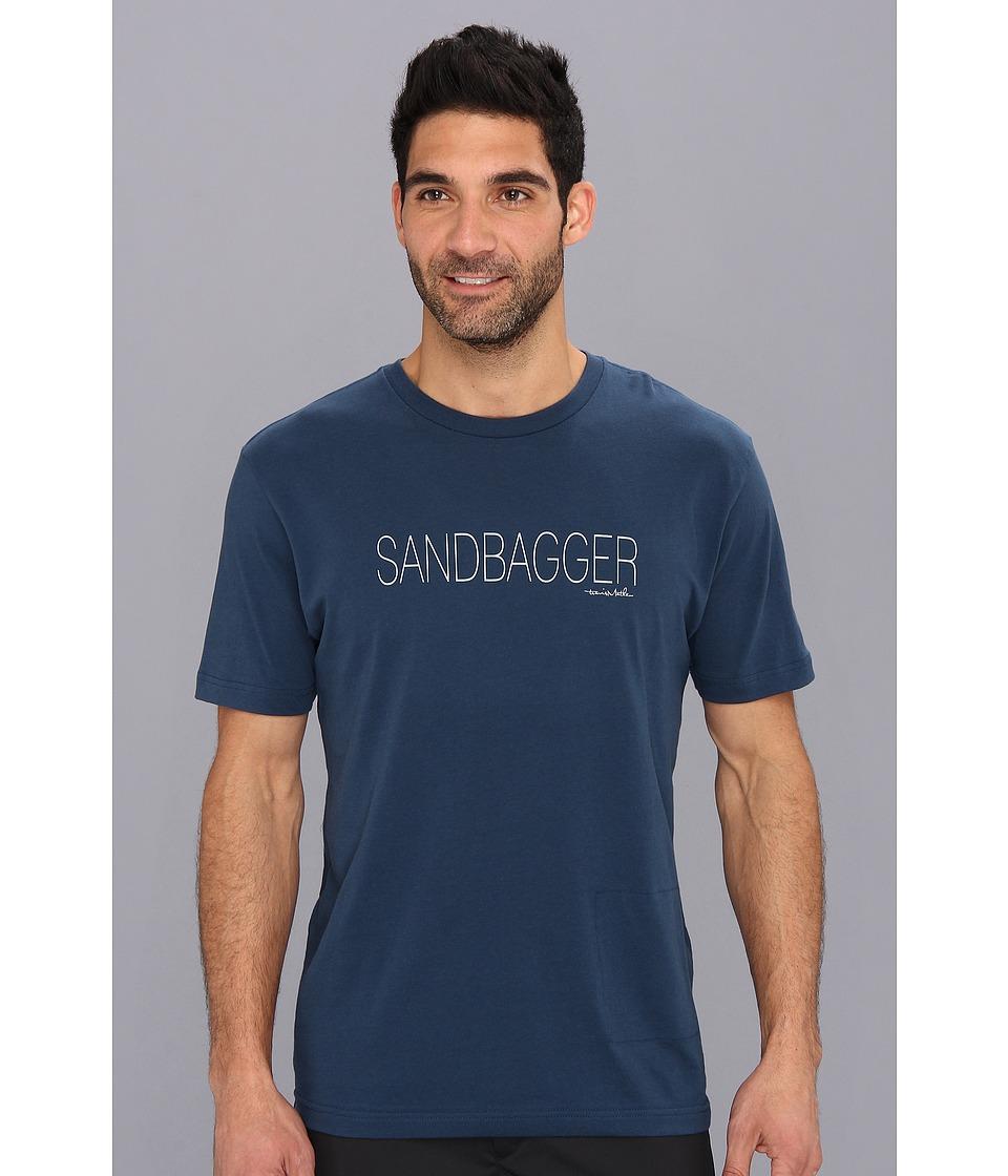 TravisMathew Sandbagger T Shirt Dark Blue Mens Short Sleeve Pullover