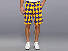 Loudmouth Golf Purple and Gold Short