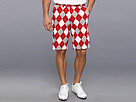 Loudmouth Golf Red Gray White Short
