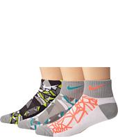 Nike Kids - Graphic Cotton w/ Moisture Management Quarter 3-Pair Pack (Toddler/Little Kid/Big Kid)