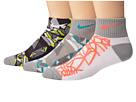 Nike Kids Graphic Cotton w/ Moisture Management Quarter 3-Pair Pack