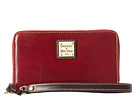 Dooney & Bourke Toledo Leather Zip Around Credit Card Phone Wristlet