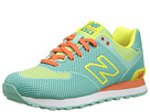 New Balance Classics WL574 Woven Pack Aquamarine, Lemon Pop Shoes