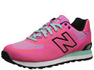 New Balance Classics WL574 Woven Pack Pink Glo, Aquamarine Shoes