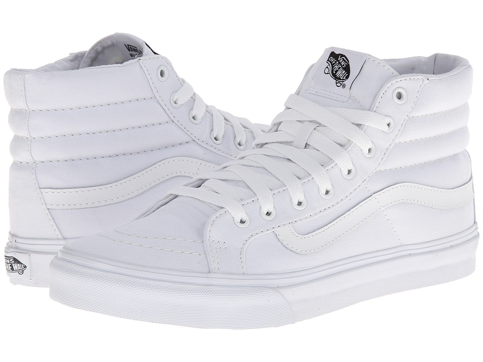 Sk8-Hi Slim Core Classics ((Canvas) True White) Skate Shoes