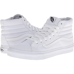 SK8-Hi Slim ((Canvas) True White) Skate Shoes
