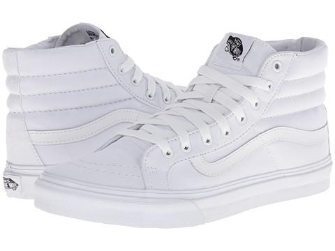 Vans Sk8-Hi Slim™ Core Classics - (Canvas) True White