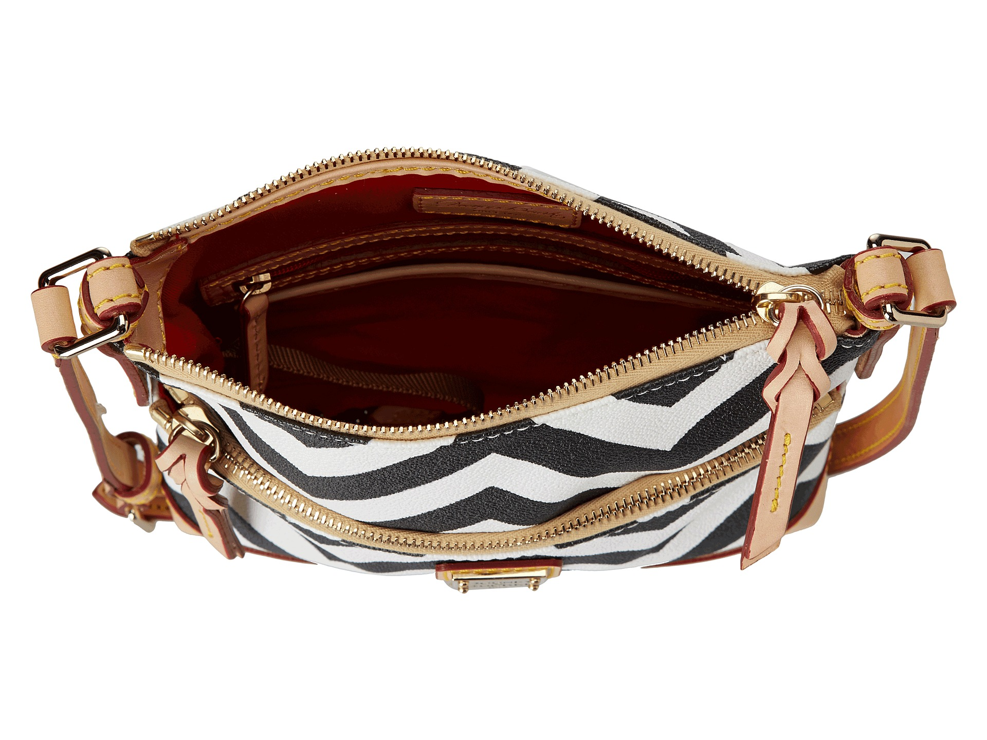 Dooney bourke chevron letter carrier black with natural for Best shoes for letter carriers