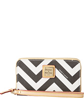 Dooney & Bourke - Chevron Zip Around CC Phone Wristlet