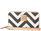 Dooney & Bourke Chevron Zip Around CC Phone Wristlet