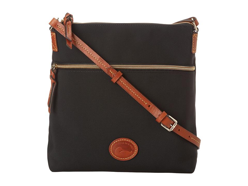 Dooney amp Bourke Nylon Crossbody Black With Tan Trim Cross Body Handbags