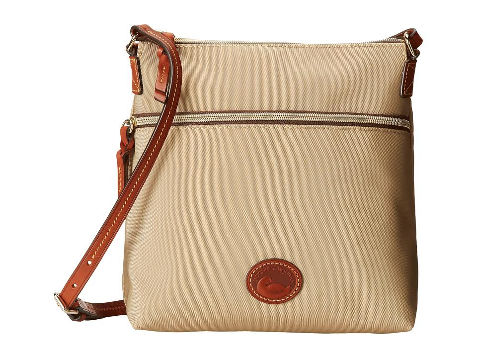 Dooney amp Bourke Nylon Crossbody Khaki With Tan Trim Cross Body Handbags