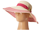 LAUREN Ralph Lauren - Bright Natural Sun Hat (Natural/Scarlet Rose)