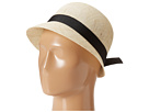 LAUREN Ralph Lauren - Linen Cloche Hat (Natural/Black)