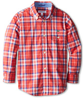 Lacoste Kids - Boys' Long Sleeve Poplin Check Shirt (Little Kids/Big Kids)