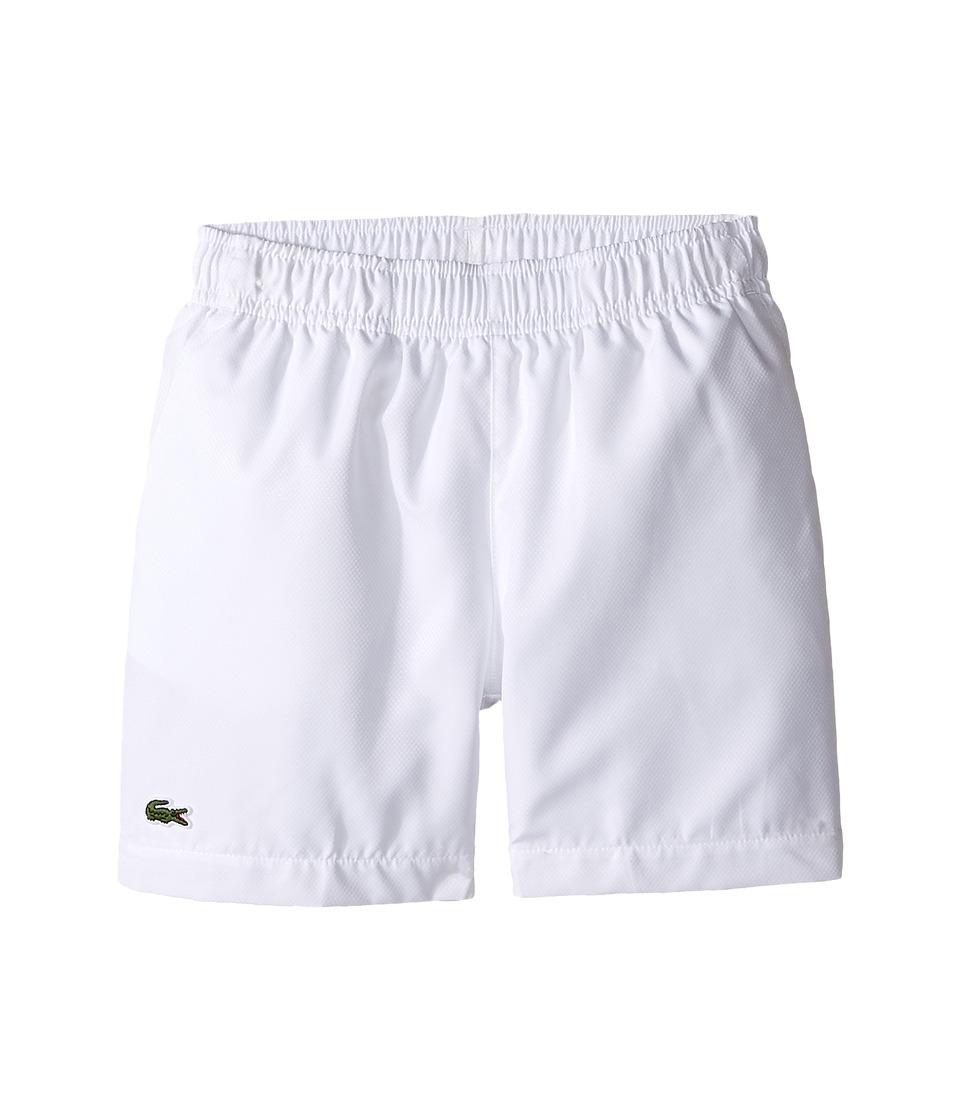 Lacoste Kids - Taffeta Tennis Short (Little Kids/Big Kids) (White) Boys Shorts