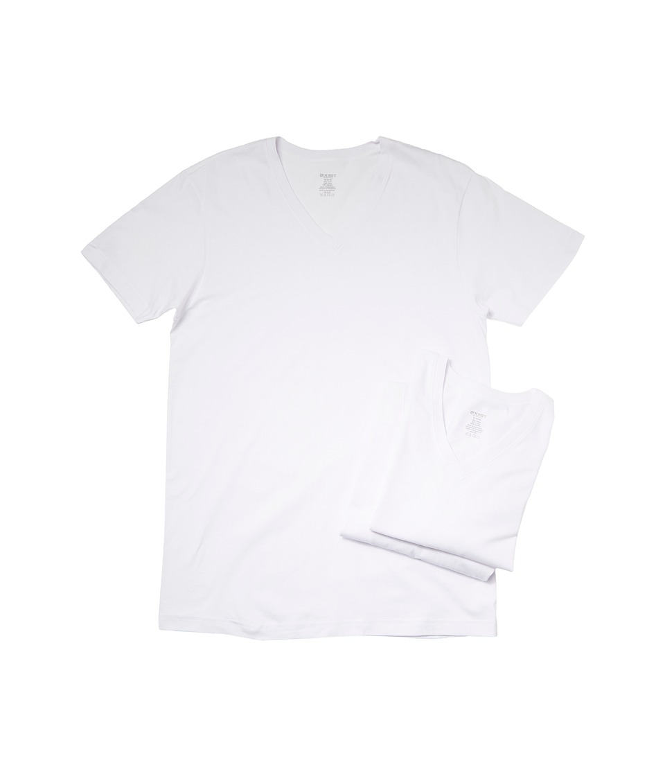 Image of 2(X)IST - 3-Pack ESSENTIAL Jersey V-Neck T-Shirt (White) Men's T Shirt