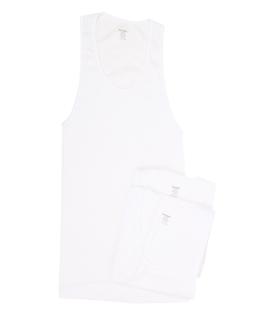 2XIST 3 Pack Essential Athletic Tank Top White Mens Underwear