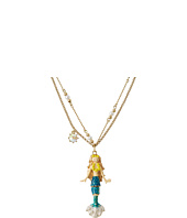 Betsey Johnson - Hanging Mermaid Pendant Necklace