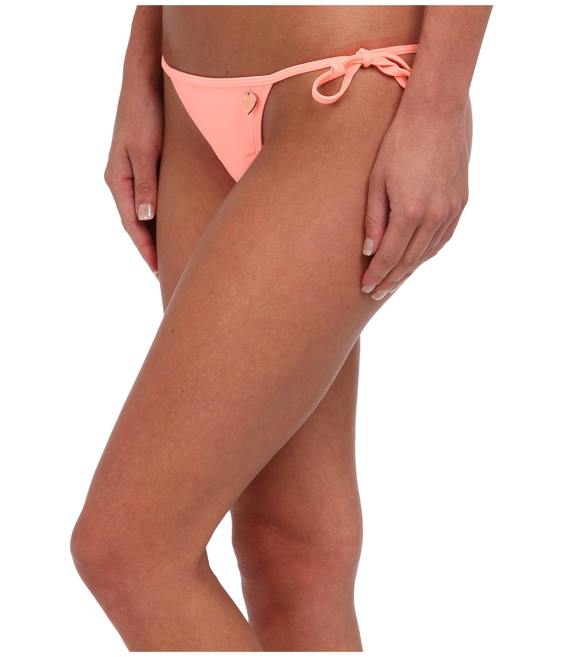 The bikini side thong tie Thats beautiful ass