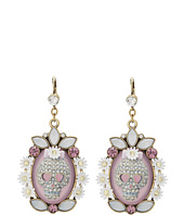 Betsey Johnson - Skull Cameo Drop Earring