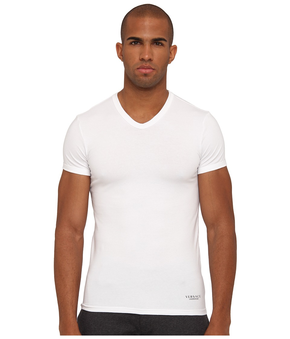 Versace V-Neck Tee (White) Men