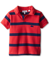 Lacoste Kids - Boys' Short Sleeve Stripe Pique Polo (Toddler/Little Kids/Big Kids)