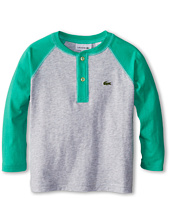 Lacoste Kids - Boys' Long Sleeve Baseball T-Shirt (Toddler/Little Kids/Big Kids)