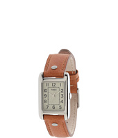 Timex - Weekender Rectangle Leather Strap Watch