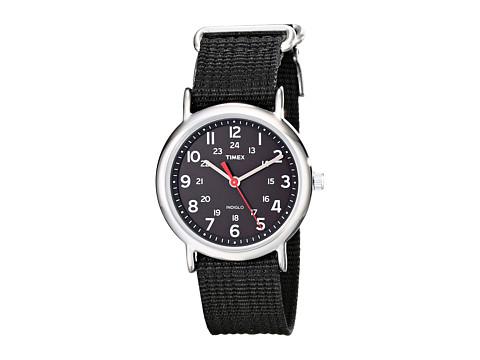 Timex Weekender Slip Through Nylon Strap Watch - Black/Silver
