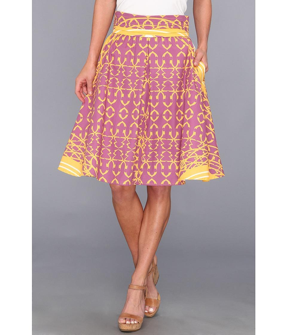 Modahnik Modahnik Yellow Henna Print Skirt Modahnik Yellow Henna Print Womens Skirt