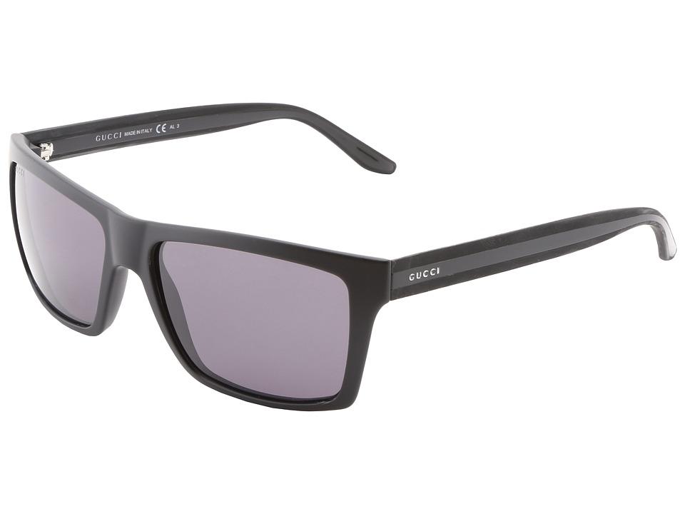 Gucci GG 1013/S Matte Black/Smoke Polarized Fashion Sunglasses