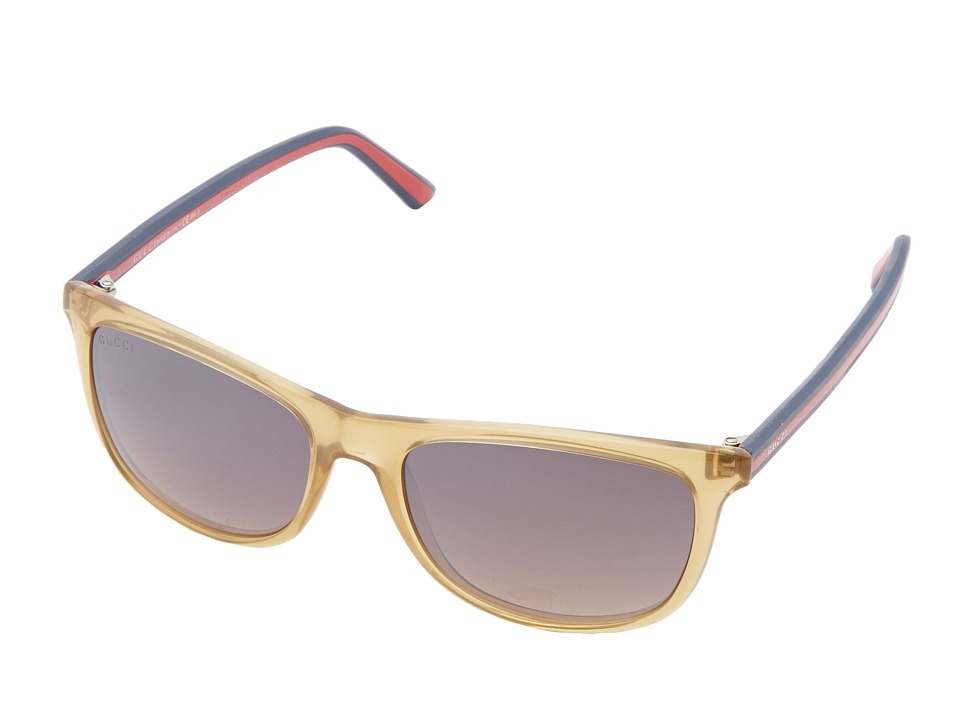 Gucci GG 1055/S Ochre/Brown Mirror Gradient Fashion Sunglasses