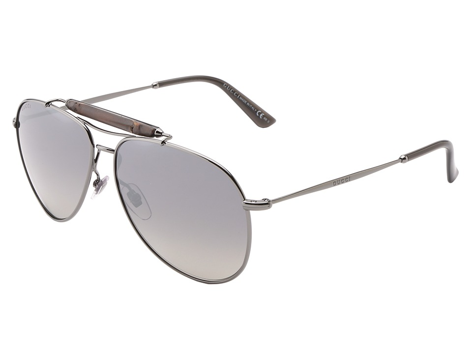 Gucci GG 2235/S Dark Ruthenium/Grey Mirrored Silver Fashion Sunglasses