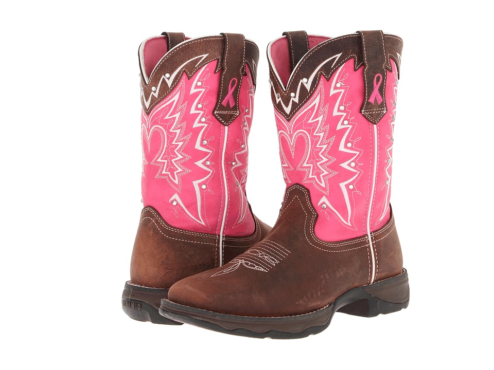 Durango - 10 Stefanie Spielman BCA Boot (Dark Brown/Pink) Women