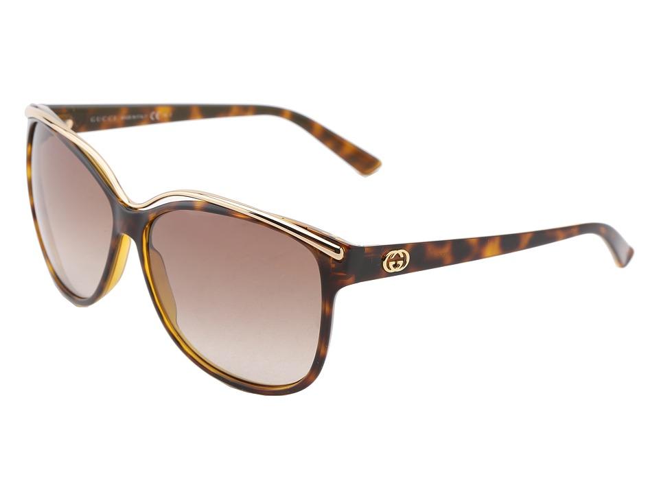 Gucci GG 3155/S Havana/Brown Gradient Fashion Sunglasses
