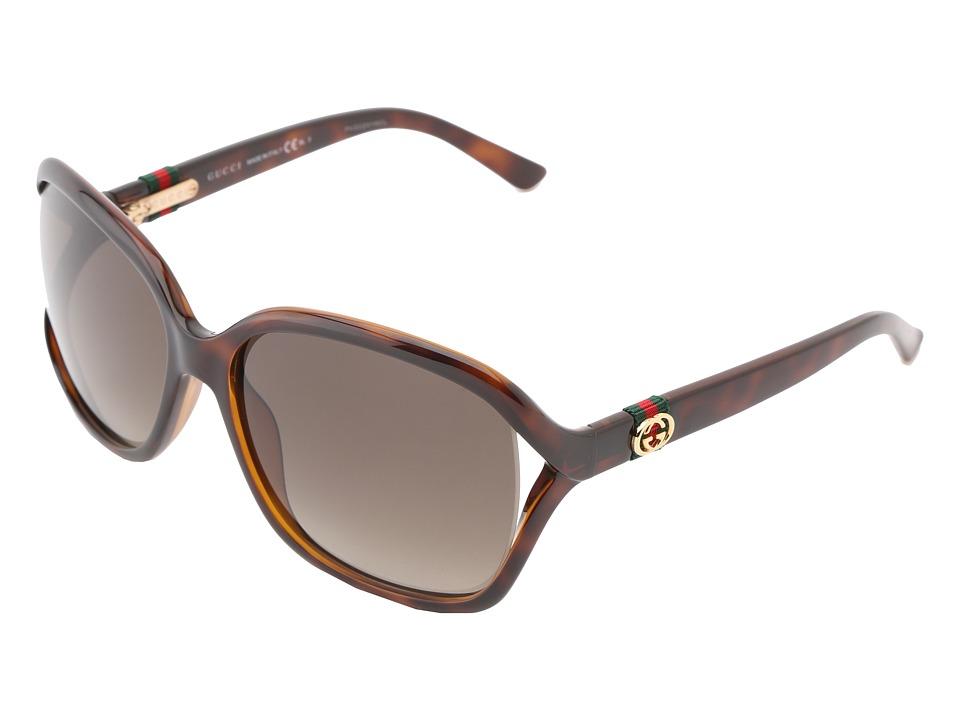 Gucci GG 3646/S Havana/Brown Gradient Fashion Sunglasses