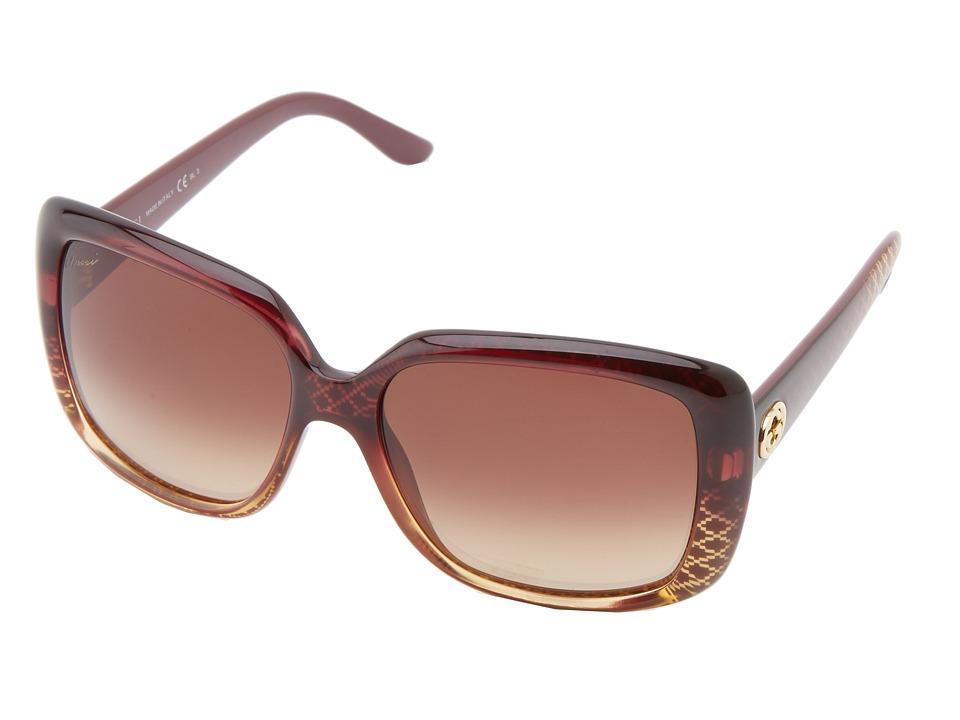 Gucci GG 3574/S Red Gold/Brown Gradient Fashion Sunglasses