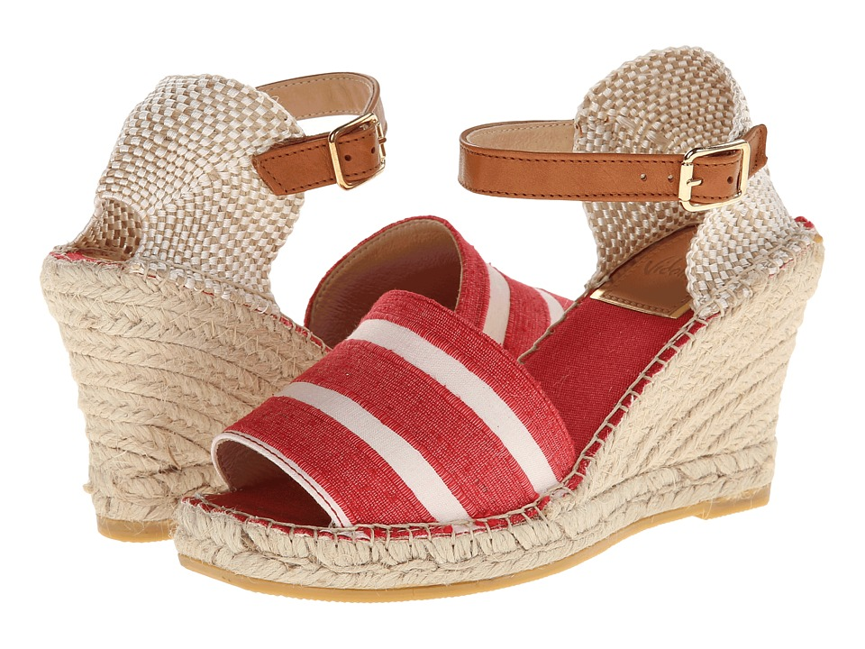 Vidorreta Jagger (Red Stripe LG) Women's Wedge Shoes