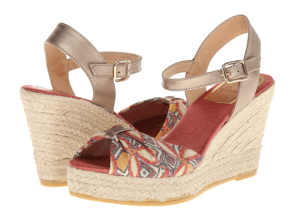 Vidorreta Jaylyn (Red Print) Women's Wedge Shoes