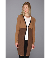 Anne Klein - Long Cardigan w/ Stripe