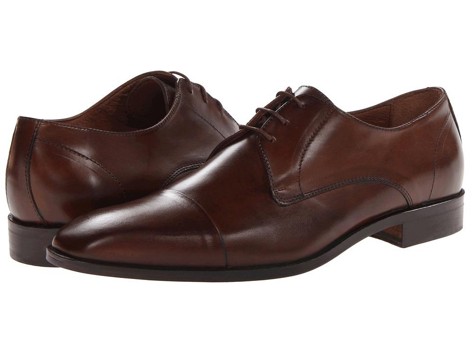 Massimo Matteo 3 Eye Cap Toe Brandy Mens Lace Up Cap Toe Shoes