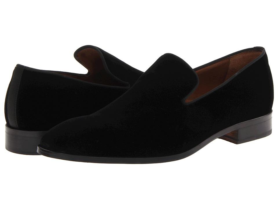 Massimo Matteo - Velvet Slip-On (Black) Mens Slip on  Shoes