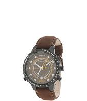 Timex - Intelligent Quartz Adventure Series Tide Temp Compass Brown Nubuck Leather Strap Watch