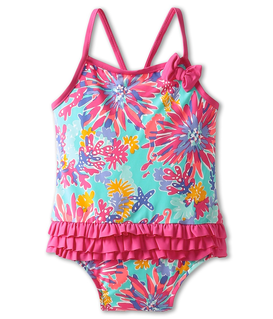 Lilly Pulitzer Kids Isa Swimsuit (Infant) (Aqua Trippin) Girl's Swimsuits One Piece<br />