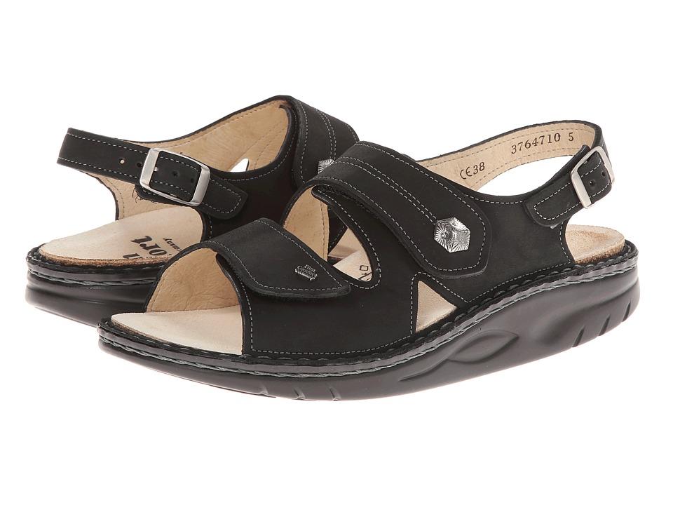 Finn Comfort Sparks Black Buggy Womens Sandals