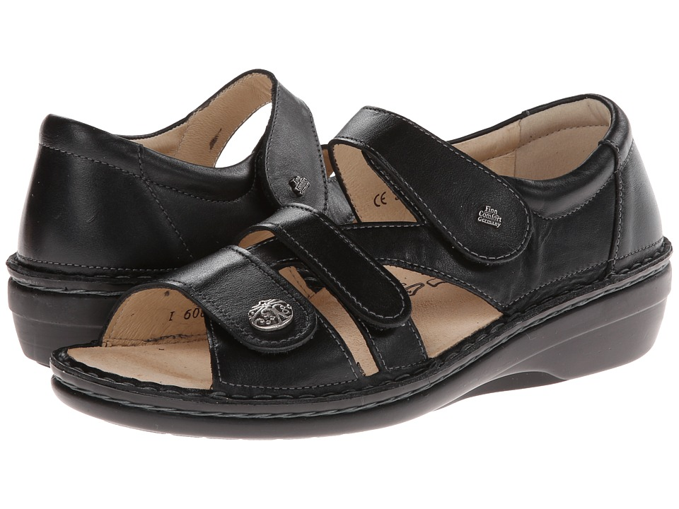 Finn Comfort Sintra Black Nappa Leather Womens Sandals